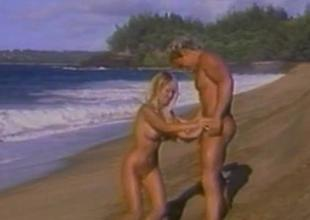 Kascha  Busty BombShell Having Copulation On The Beach