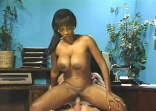 Retro interracial fuck be worthwhile for his busty black secretary