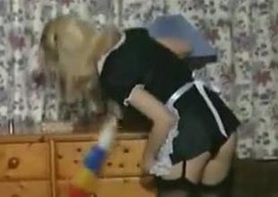 Anja be transferred to sexy maid