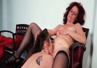 Nasty mature drag queen gets her horny part3