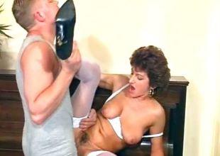 Nasty Mummy maid sucks on her bosses part5