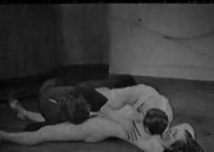 Vintage 1930s Porno  FFM Triplet