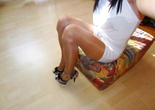 Pantyhose, nylons, high high-heeled shoes pics vitiate