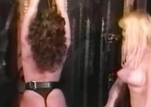 Retro lesbian paddles ass