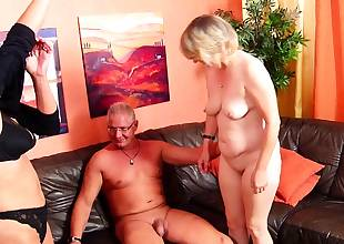 German Mature Wife talk Gross Maid to FFM 3Some with Husband