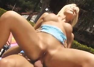 She loves getting her anus pounded by the pool