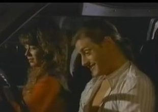 Christy Canyon gets drilled in a van