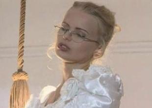 Hot bride gets bitchy alongside wedding dress