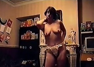 Cute And Hairy Wife Doing A Striptease