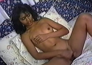 Solo gaunt girl Lydia Channel masturbates and pounds