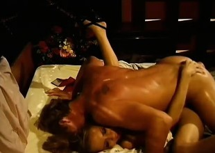 Delia trades head with sixty-nine and gets drilled with a dirty facial cumshot