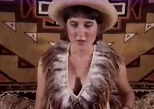 Delicate cowgirl gets banged in a Vintage Porno