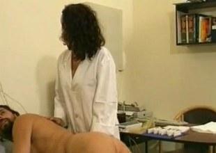 Nurse making real that he feels super-naughty