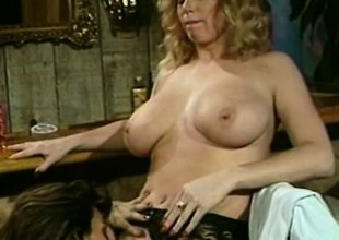 Tracey Adams coupled with Tori Welles - Blonde And Ill-lighted Retro Lesbian Dealings