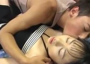 Japan girl got a creampie after shagging