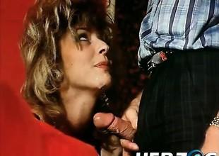 Hairy retro ladies love getting a big dick inwards