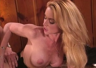 Big caked blonde Nikki Shane brings her tryst support c substance to fruition