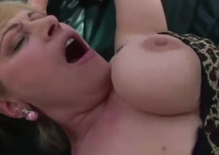 Busty blonde granny gets her pussy pounded