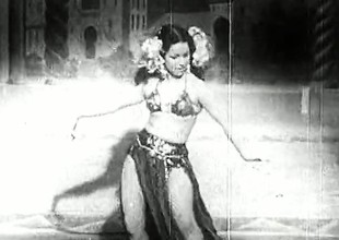 Teeny-weeny Woman Having Joy on the Stage