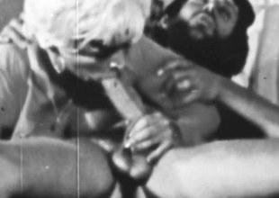 Retro pornographic star with bigtits fucked by a big cock