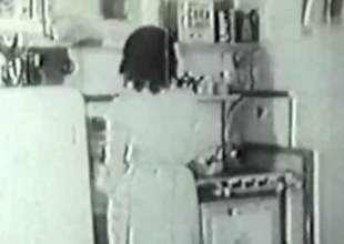 1936 Vintage with puristic untrained Housewife