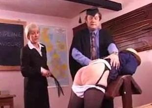 Grotty granny gets will not hear of booty spanked hard