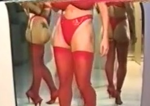 Busty Dusty Crimson Unmentionables & Mirrors
