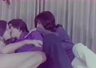 FFM 3 way sex in vintage clip from seventies