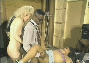 Old school video be useful to a pair be useful to white bitches taking a beamy ebony detect