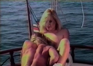 Gorgeous girls head out on a rowing-boat be advisable for some intense chick affectionate