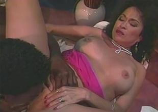 Tight sickly ass nailed hither an interracial clip