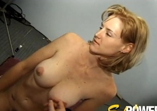 Output thick tits ultra-cutie in a sweater takes off for him