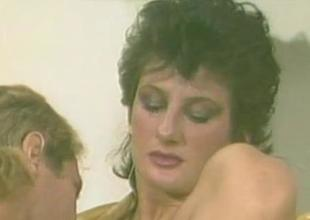 Sharon Mitchell  80s Babe Pleasuring A Flannel